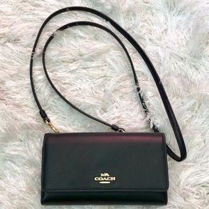 Cute Coach Smooth Leather Phone Crossbody